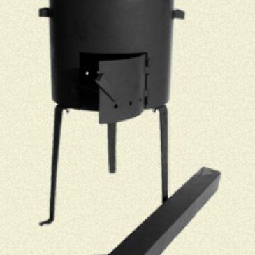 Печь с трубой для казанов 16-20л (Сталь 3мм)