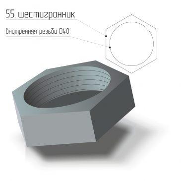 Заглушка стальная внутренняя резьба D40 ГОСТ 21873