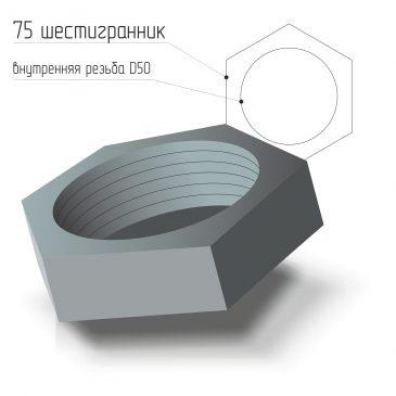 Заглушка стальная внутренняя резьба D50 ГОСТ 21873